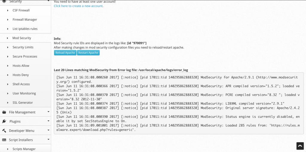 Centos Webpanel Apache Restart