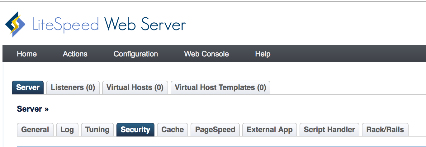 LiteSpeed Web Server Security