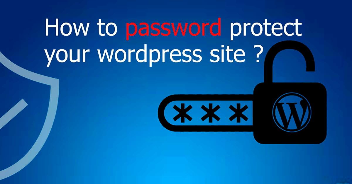 How to Password Protect Your WordPress Site
